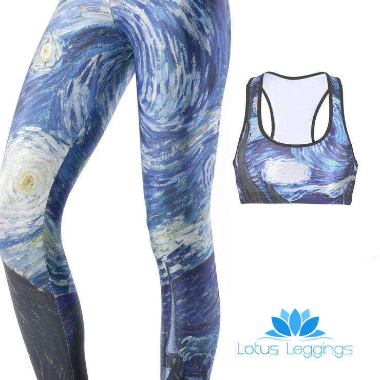 STARRY NIGHT FULL ATHLETIC SET - Lotus Leggings