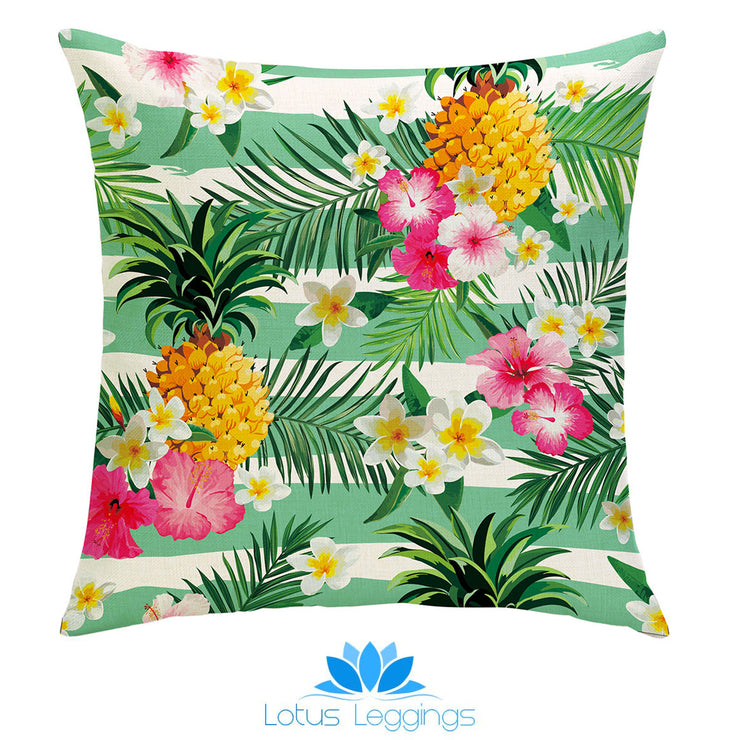 Summertime Teal Pillow Cover - Lotus Leggings