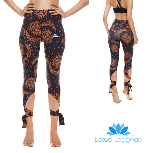 Sun and Moon Tie-Up Leggings