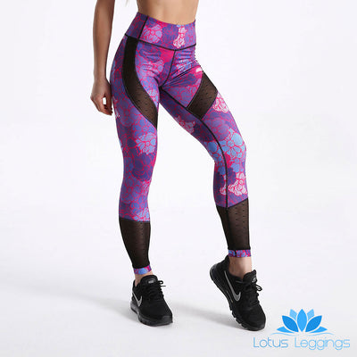 Tropical Dusk  MESHTEX Leggings