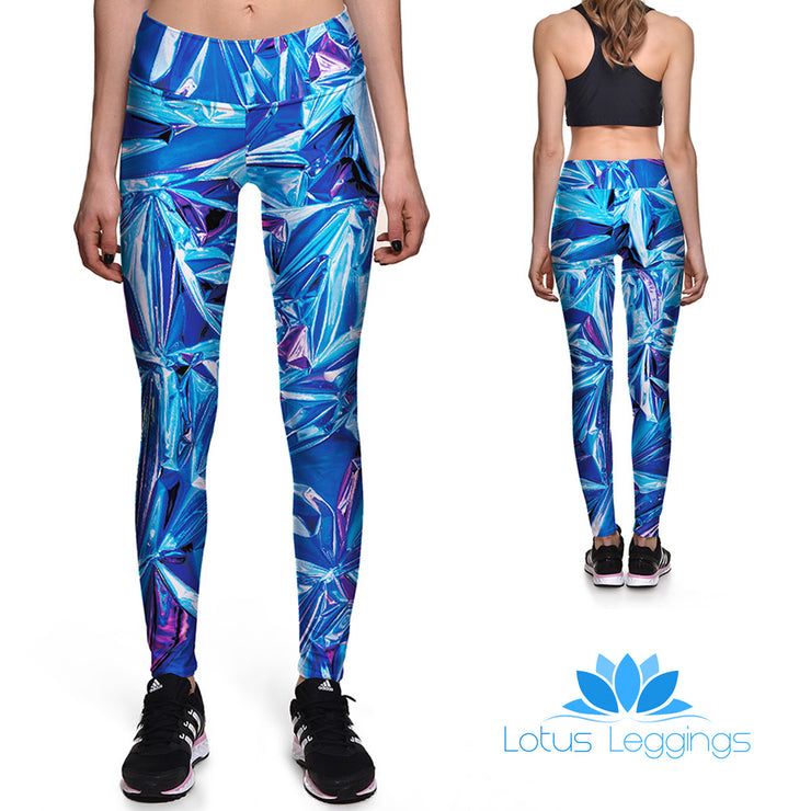 Precious Jewel  Athletic Leggings - Lotus Leggings