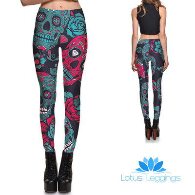 Jewels of Death Leggings - Lotus Leggings