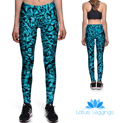 Blue Passion Athletic Leggings