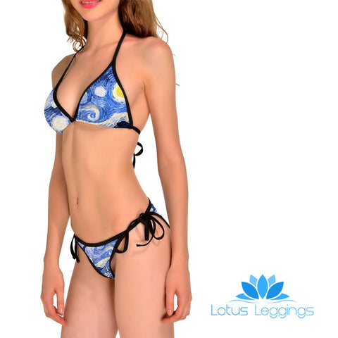 VAN GOGH STARRY NIGHT BIKINI
