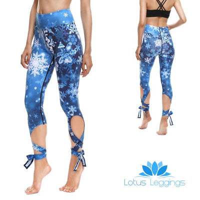 Winter Wonderland Tie-Up Leggings