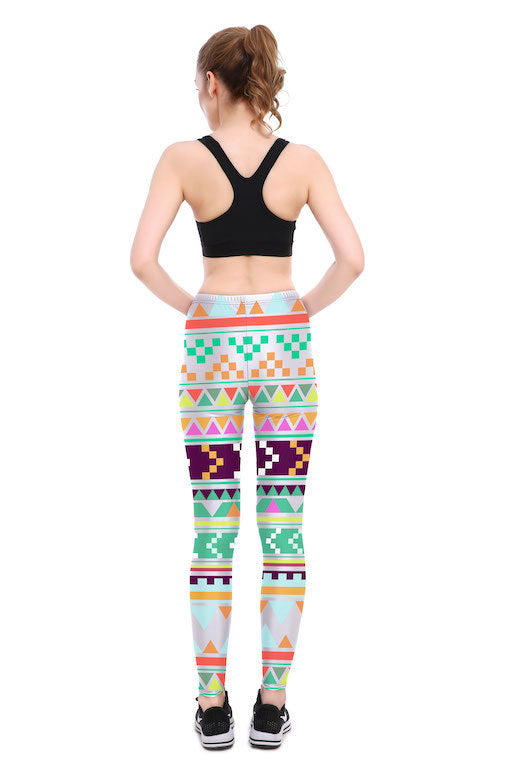 Tribal Tetris Leggings - Lotus Leggings