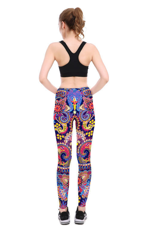 Psychedelic Leggings - Lotus Leggings