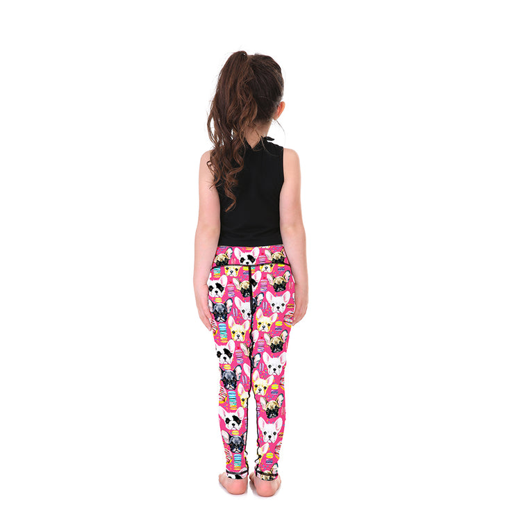 Puppy Face Kid's Leggings - Lotus Leggings