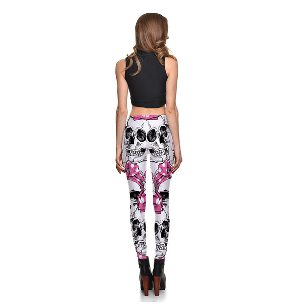 Bowtie Skull Leggings - Lotus Leggings