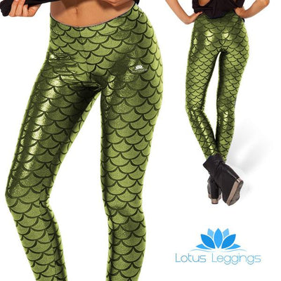 LIGHT GREEN MERMAID LEGGINGS