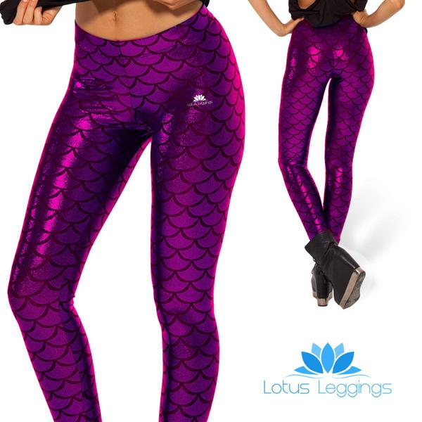 MAGENTA MERMAID LEGGINGS