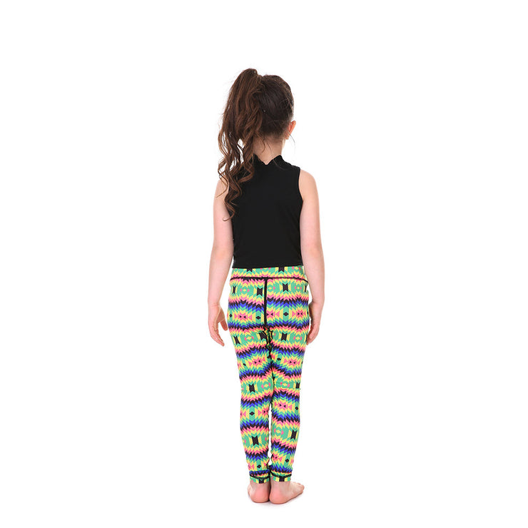 LotusX™ Kid's Crazy Rainbow Leggings - Lotus Leggings