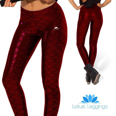 RED MERMAID LEGGINGS