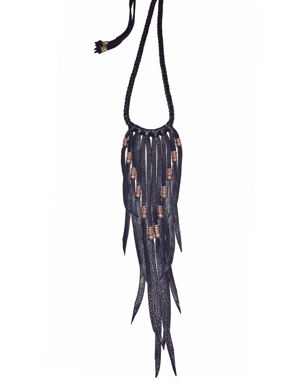 Cheyenne Fringe Necklace: Black
