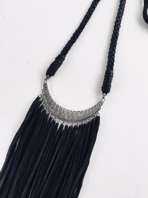 Tribal Collar Necklace: Black