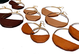 Nomad Hoops: Antique Bronze Metal Hoop
