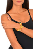 Leather Ruffle Cuff