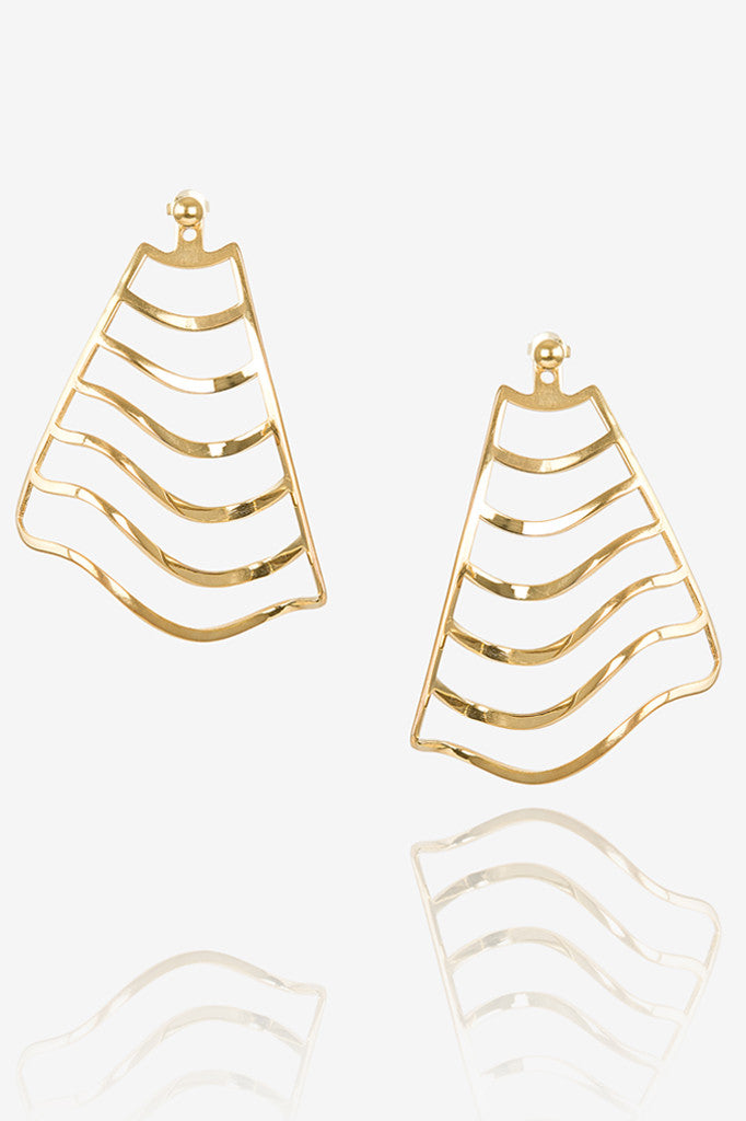 Wave Stripe Earring