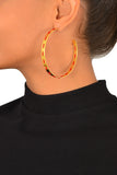 Large Leather Hoop Earring