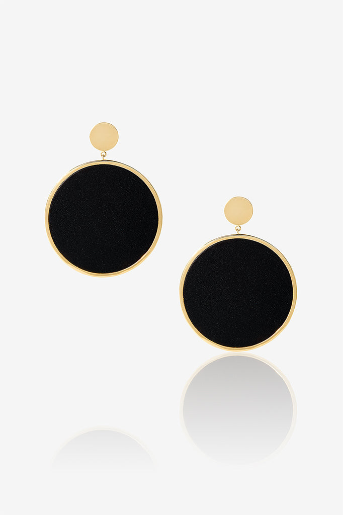 Black Circle Earring