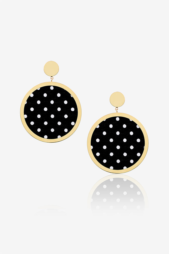 Black Dot Earrings