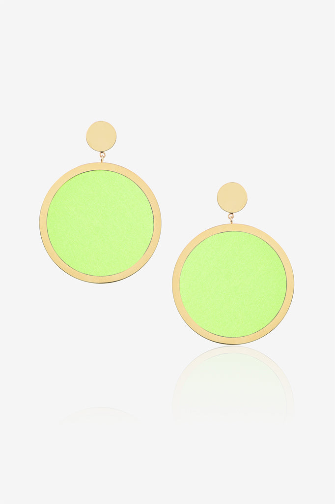 Neon Green Earring