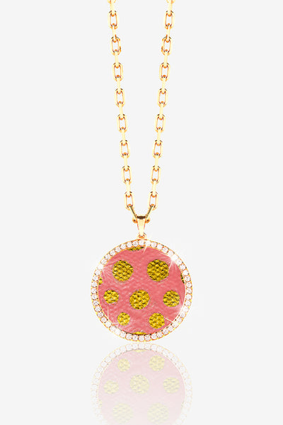 14K GOLD PAVE LOCKET