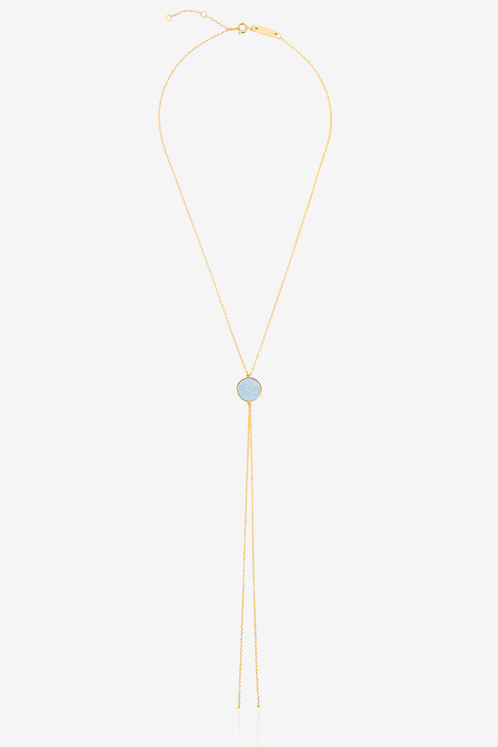 Denim Lariat Necklace