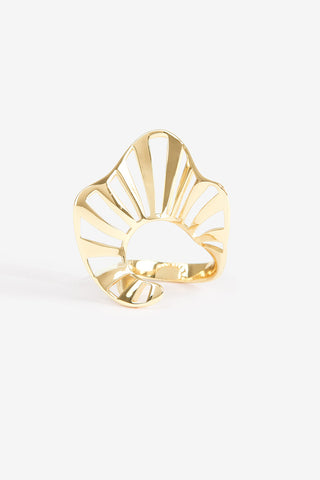 Ruffle Stripe Ring