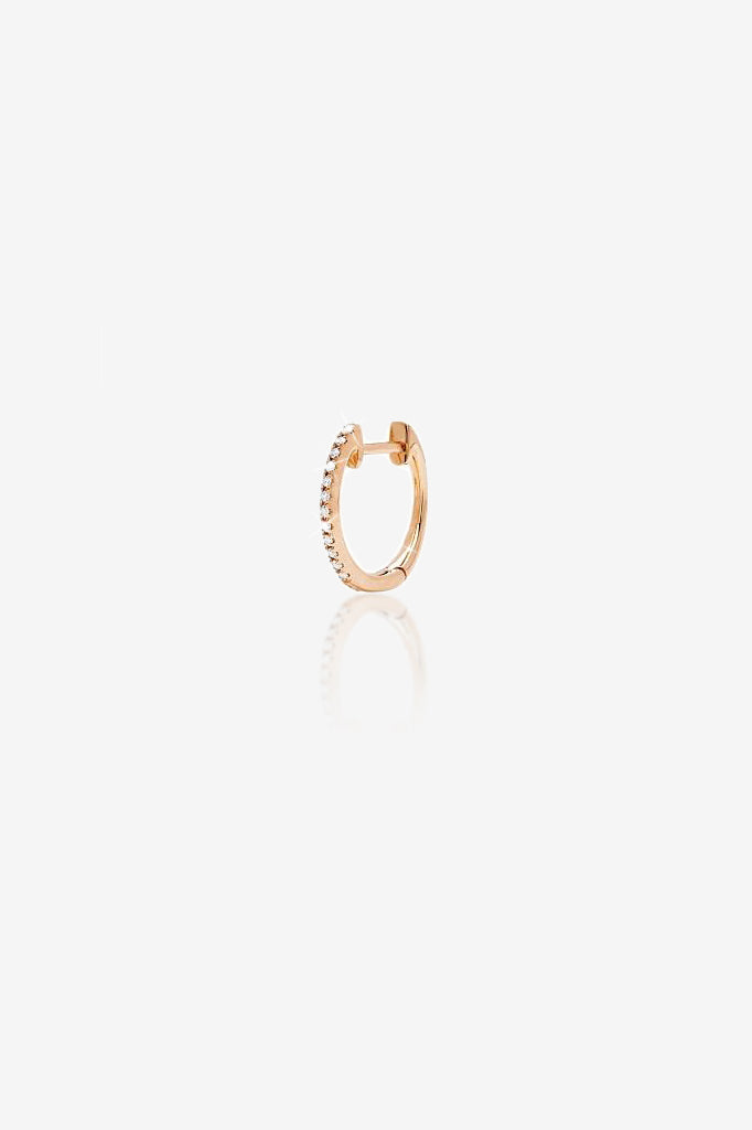 14K Gold Mini Huggie Earring