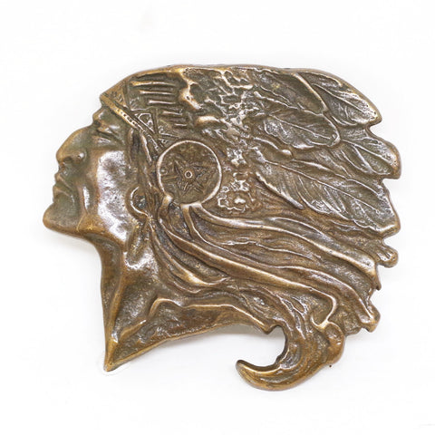 Native American Profile Belt Buckle