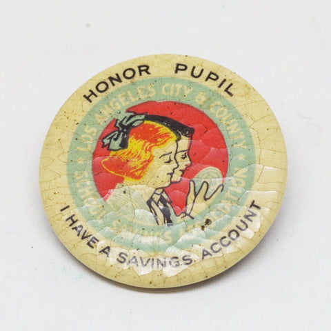 Vintage Los Angeles School Honor Student Pin
