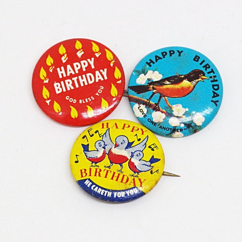 Christian Happy Birthday Pins