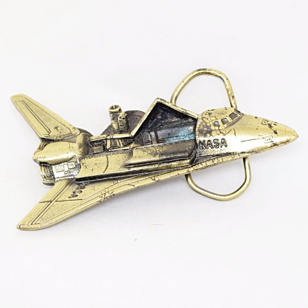 1979 Brass Space Shuttle Belt Buckle