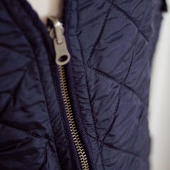 Brooks Brothers Navy Fleece-Lined Quilted Down Vest- XL