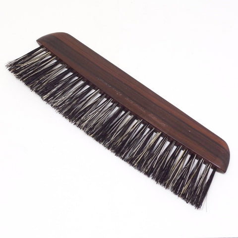 Vintage Narrow Ebony Boar's Hair Brush