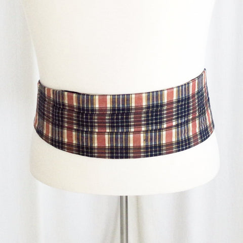 Vintage Indian Madras Cummerbund- M/L