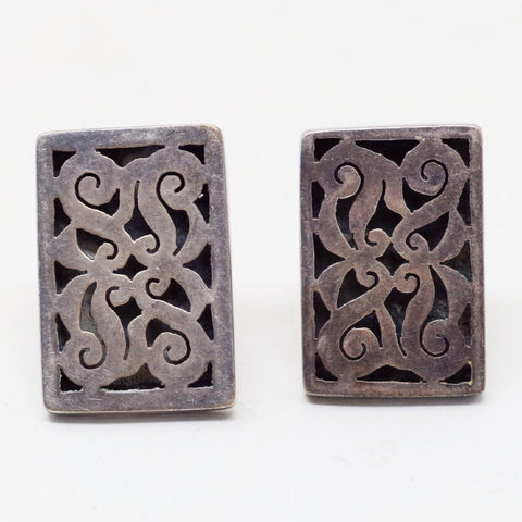 Sterling Rococo Mexican Silver Cufflinks