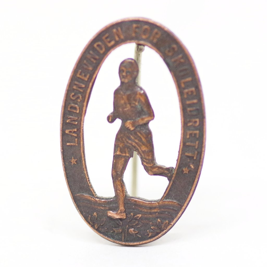 Vintage Norwegian School Athletics Pin