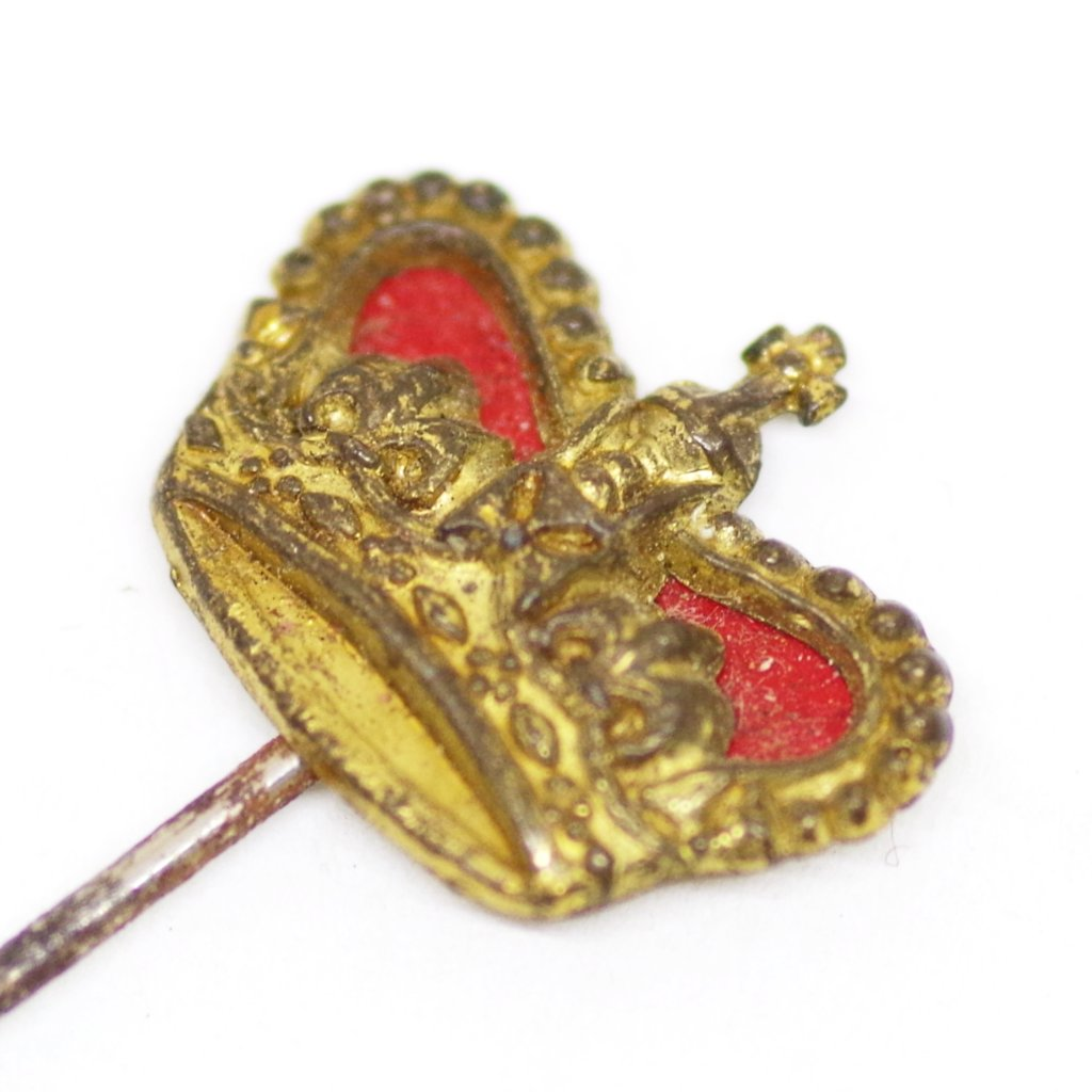 English Red Royal Crown Stick Pin