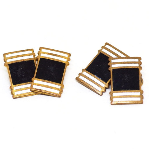 Black and White Deco Enamel Cufflinks