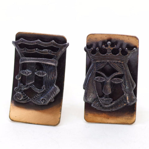 King and Queen Copper Cufflinks