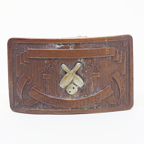 1938 Bowling Champ Slide Belt Buckle