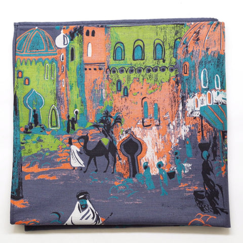 Middle Eastern Street Scene Cotton Pocket Square by Put This On