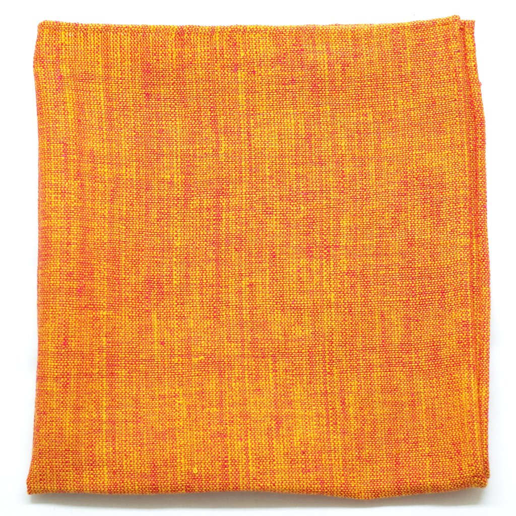 Hearty Orange Cotton Pocket Square by Put This On
