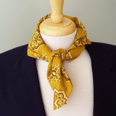 Golden Cotton Bandanna by Put This On