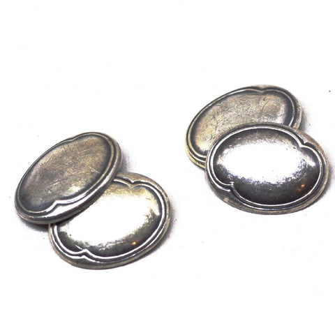 Vintage Rounded Silver Cufflinks