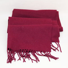 Simple Burgundy Wool Scarf