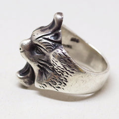 Roaring Taxco Mexican Sterling Silver Ring