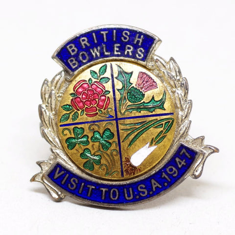 1947 British Bowlers Pin